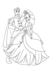 принц и принцесса картинки раскраски крупные (20)
