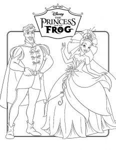 принц и принцесса картинки раскраски крупные (22)