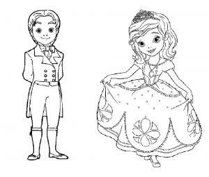 принц и принцесса картинки раскраски крупные (23)