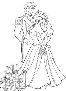 принц и принцесса картинки раскраски крупные (24)