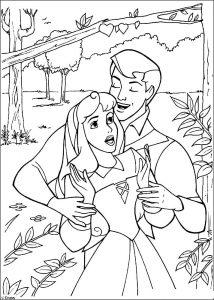 принц и принцесса картинки раскраски крупные (25)