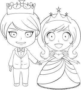 принц и принцесса картинки раскраски крупные (29)