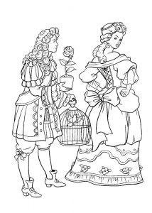 принц и принцесса картинки раскраски крупные (3)