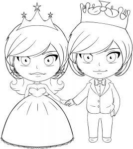 принц и принцесса картинки раскраски крупные (31)