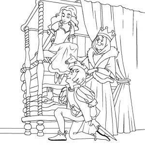 принц и принцесса картинки раскраски крупные (34)
