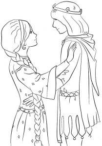 принц и принцесса картинки раскраски крупные (36)