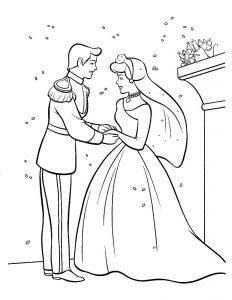 принц и принцесса картинки раскраски крупные (38)