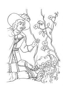 принц и принцесса картинки раскраски крупные (4)