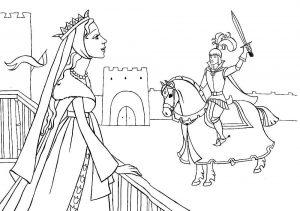 принц и принцесса картинки раскраски крупные (42)
