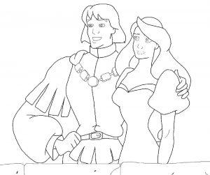 принц и принцесса картинки раскраски крупные (43)