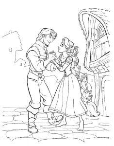 принц и принцесса картинки раскраски крупные (44)