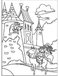принц и принцесса картинки раскраски крупные (47)
