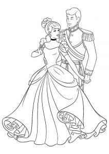 принц и принцесса картинки раскраски крупные (49)