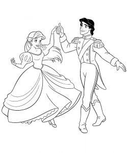 принц и принцесса картинки раскраски крупные (54)
