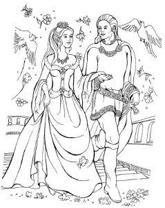 принц и принцесса картинки раскраски крупные (57)