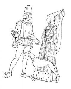 принц и принцесса картинки раскраски крупные (58)