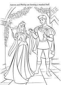 принц и принцесса картинки раскраски крупные (61)