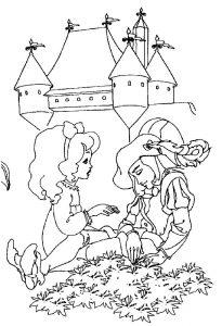 принц и принцесса картинки раскраски крупные (63)