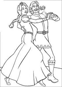 принц и принцесса картинки раскраски крупные (67)
