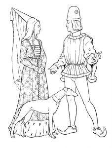 принц и принцесса картинки раскраски крупные (69)