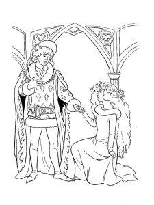 принц и принцесса картинки раскраски крупные (70)