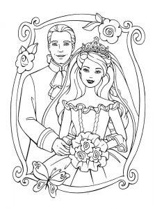 принц и принцесса картинки раскраски крупные (72)
