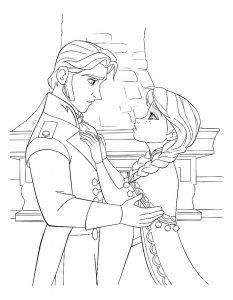 принц и принцесса картинки раскраски крупные (73)