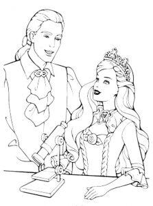 принц и принцесса картинки раскраски крупные (8)