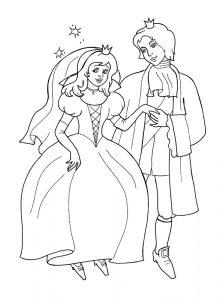 принц и принцесса картинки раскраски крупные (9)