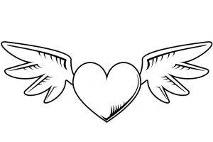 сердечки картинки раскраски крупные (1)