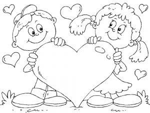 сердечки картинки раскраски крупные (10)