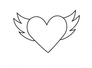 сердечки картинки раскраски крупные (103)