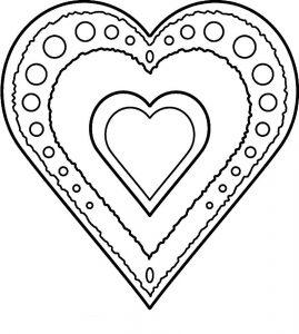 сердечки картинки раскраски крупные (104)