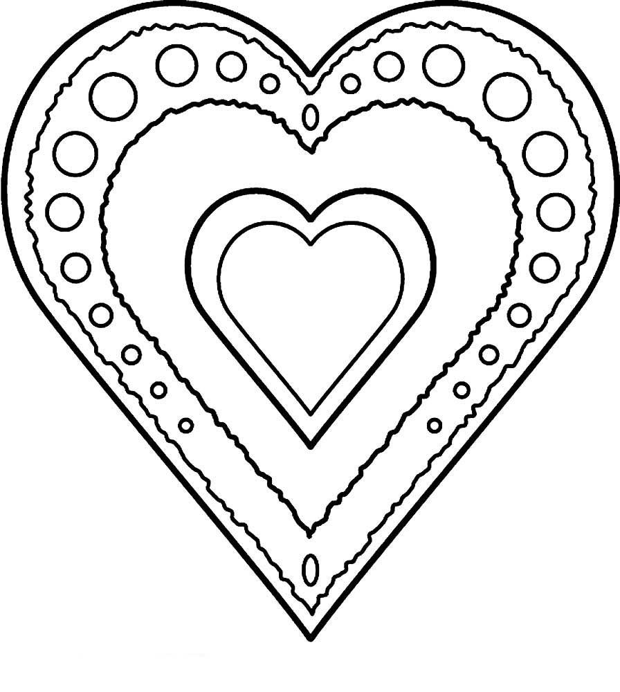 Картинки для девочек раскраски сердечки
