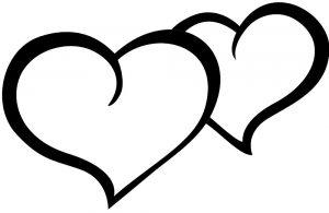 сердечки картинки раскраски крупные (108)