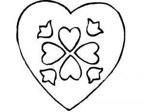сердечки картинки раскраски крупные (109)