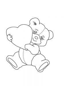 сердечки картинки раскраски крупные (110)
