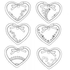 сердечки картинки раскраски крупные (114)