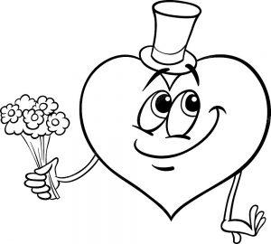 сердечки картинки раскраски крупные (115)