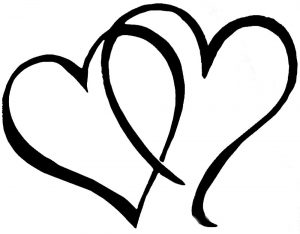 сердечки картинки раскраски крупные (116)