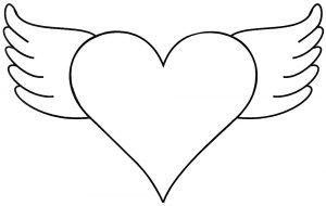 сердечки картинки раскраски крупные (12)