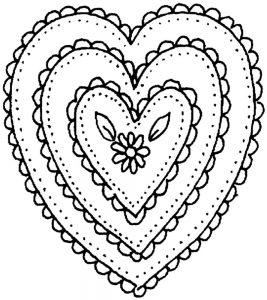 сердечки картинки раскраски крупные (123)