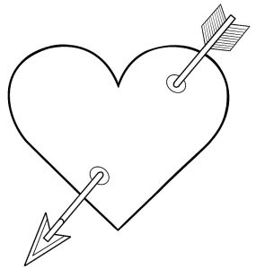 сердечки картинки раскраски крупные (13)