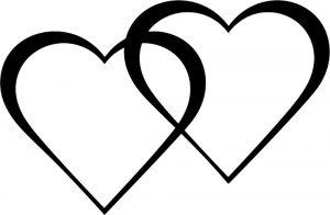 сердечки картинки раскраски крупные (14)