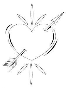 сердечки картинки раскраски крупные (16)