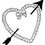 сердечки картинки раскраски крупные (17)