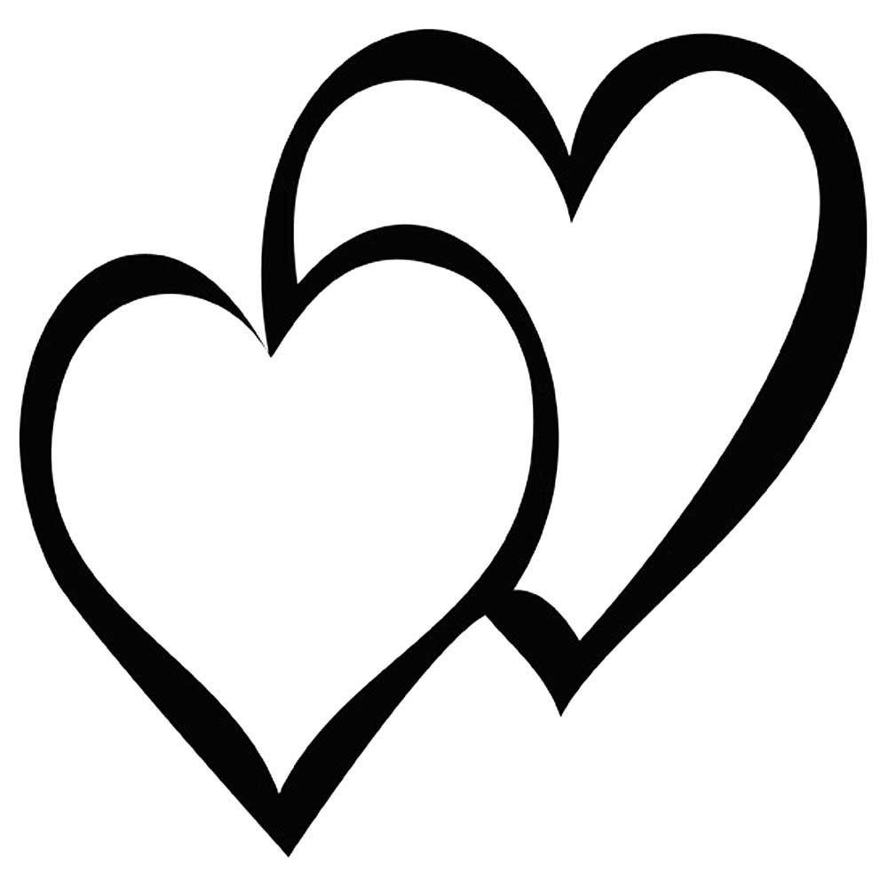 сердечки картинки раскраски крупные (18)