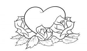 сердечки картинки раскраски крупные (19)