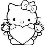 сердечки картинки раскраски крупные (2)