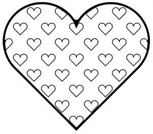 сердечки картинки раскраски крупные (20)